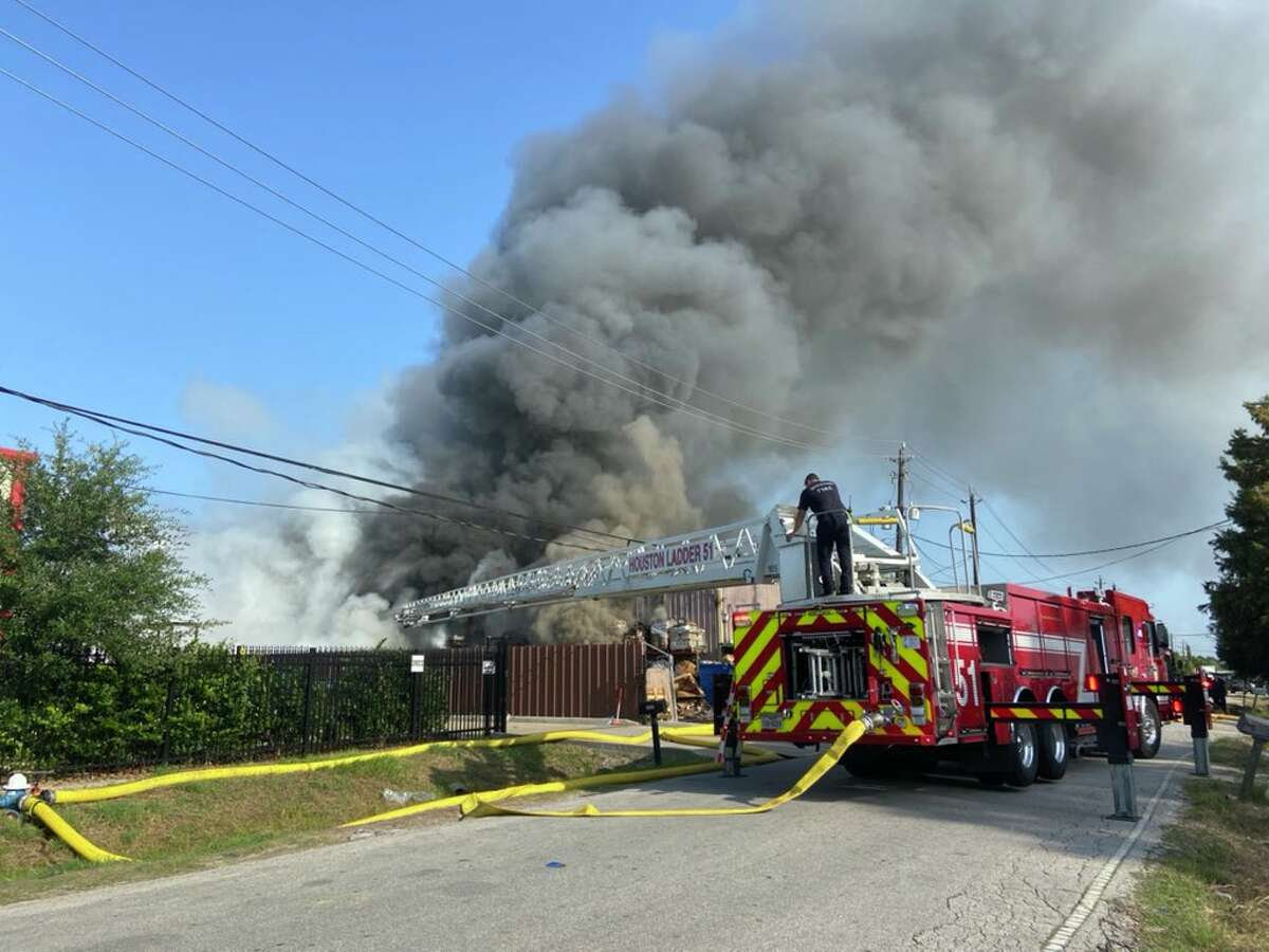 Fire officials responded to a warehouse fire on Arc Street Thursday morning, according to Houston Fire Department.