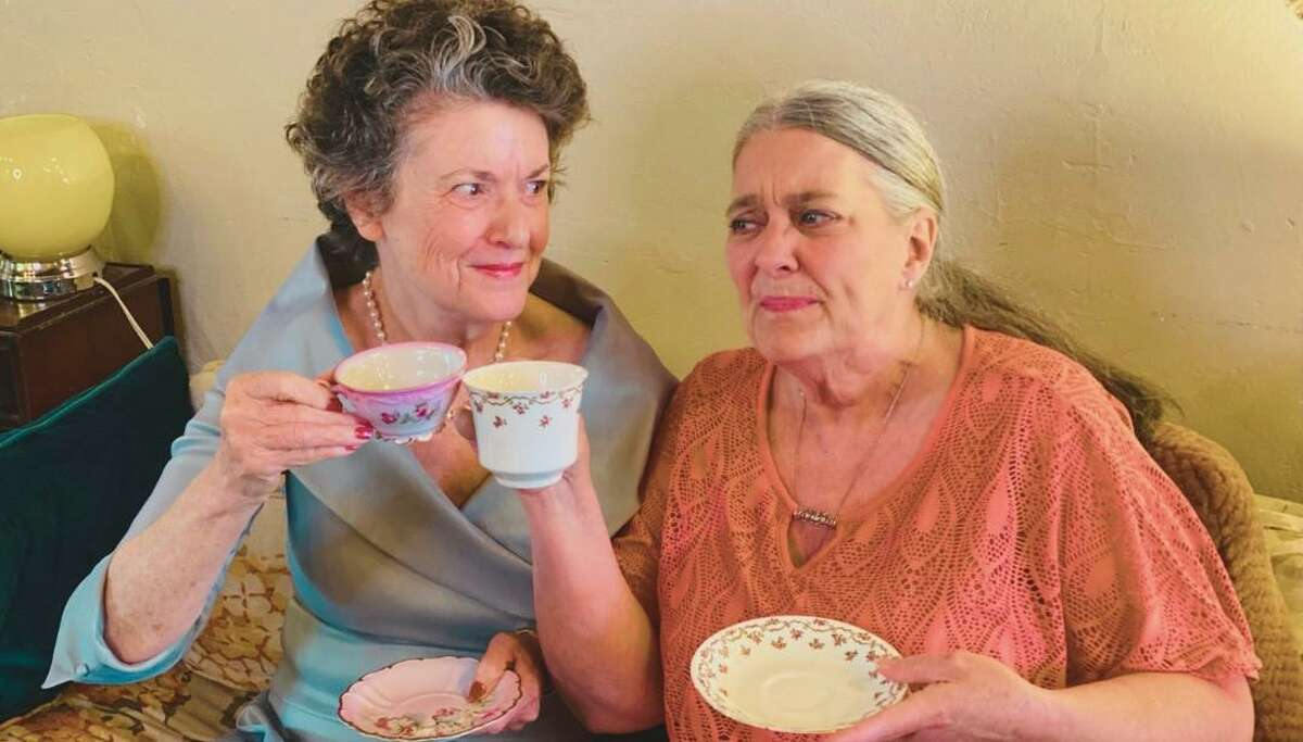 """Stage Right of Texas opens its new season with """"Steel Magnolias"""" at the Crighton Theatre. The show opens Sept. 10 and runs through Sept. 26. Visit www.stage-right.org or crightontheatre.org for tickets. Pictured are Dixie Cooper as Clairee and Lisa Schofield as Ouiser."""