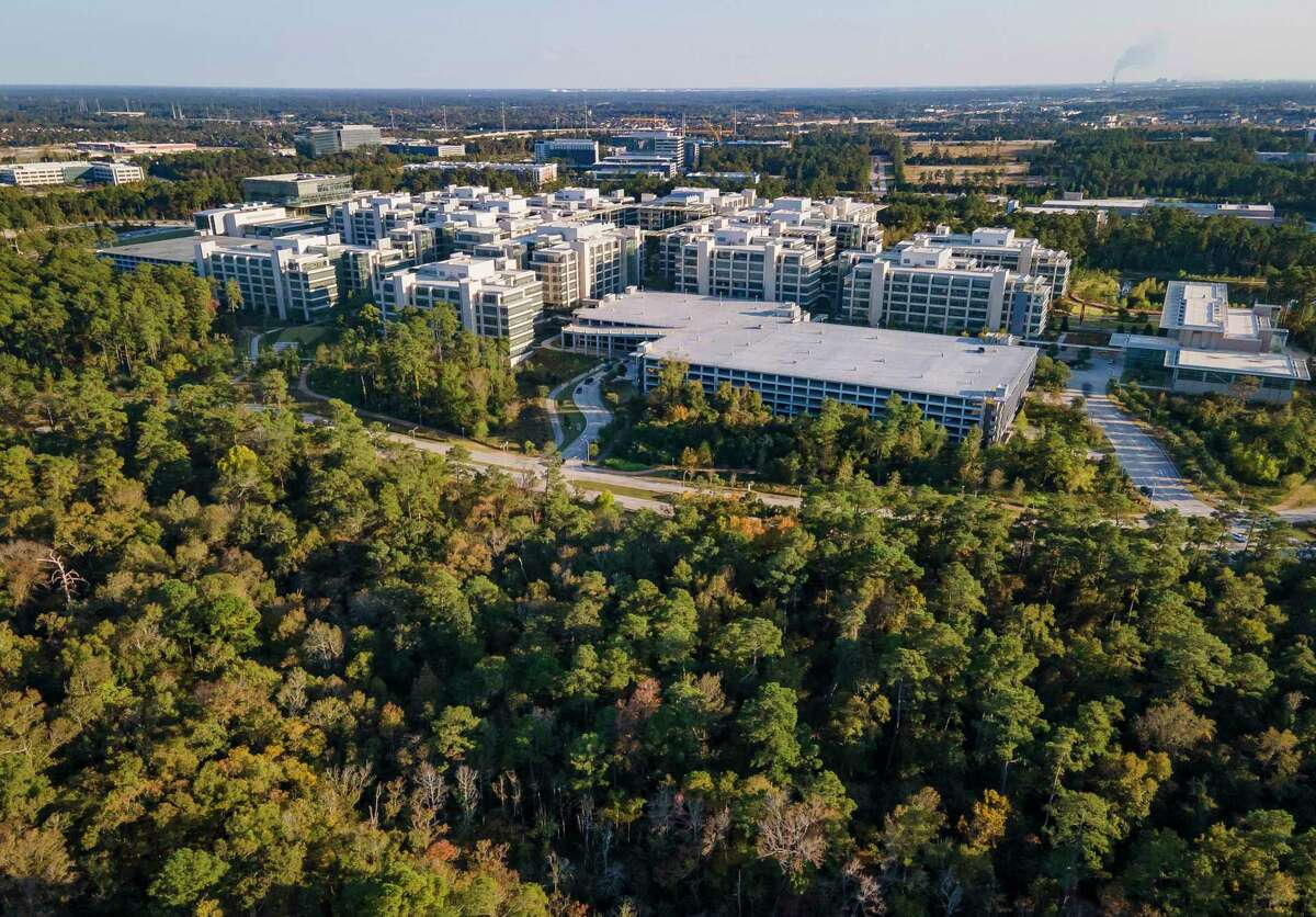 Montgomery County commissioners divided up $4 million in property taxes from ExxonMobil after the firm canceled its tax abatement agreement with the county. The ExxonMobil headquarters in Spring is shown in November.
