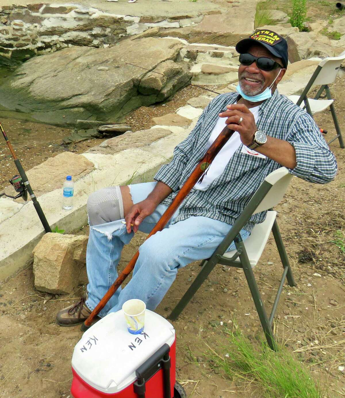 Army veteran Ken Hardy at Killam's Point