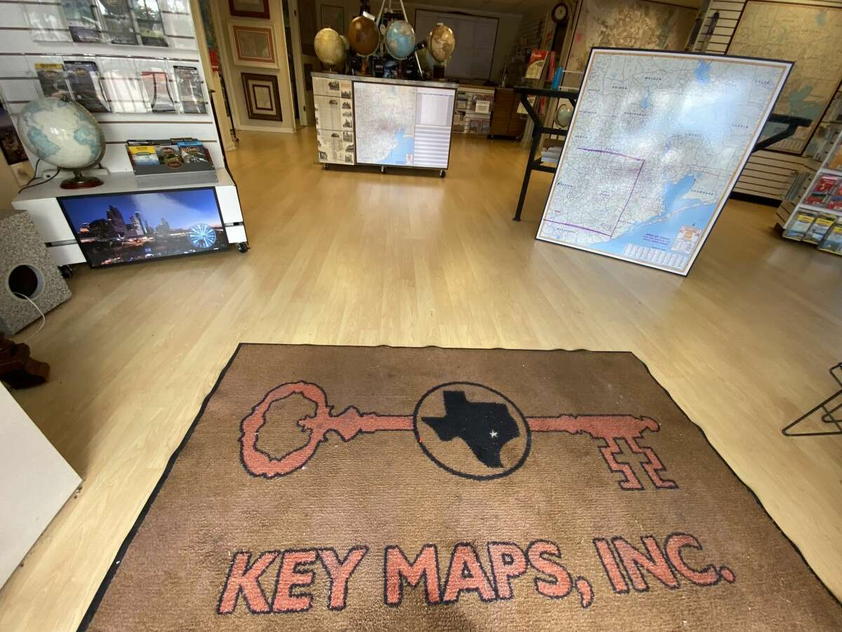 A look inside the Houston Map Company, makers of the famous Key Map.