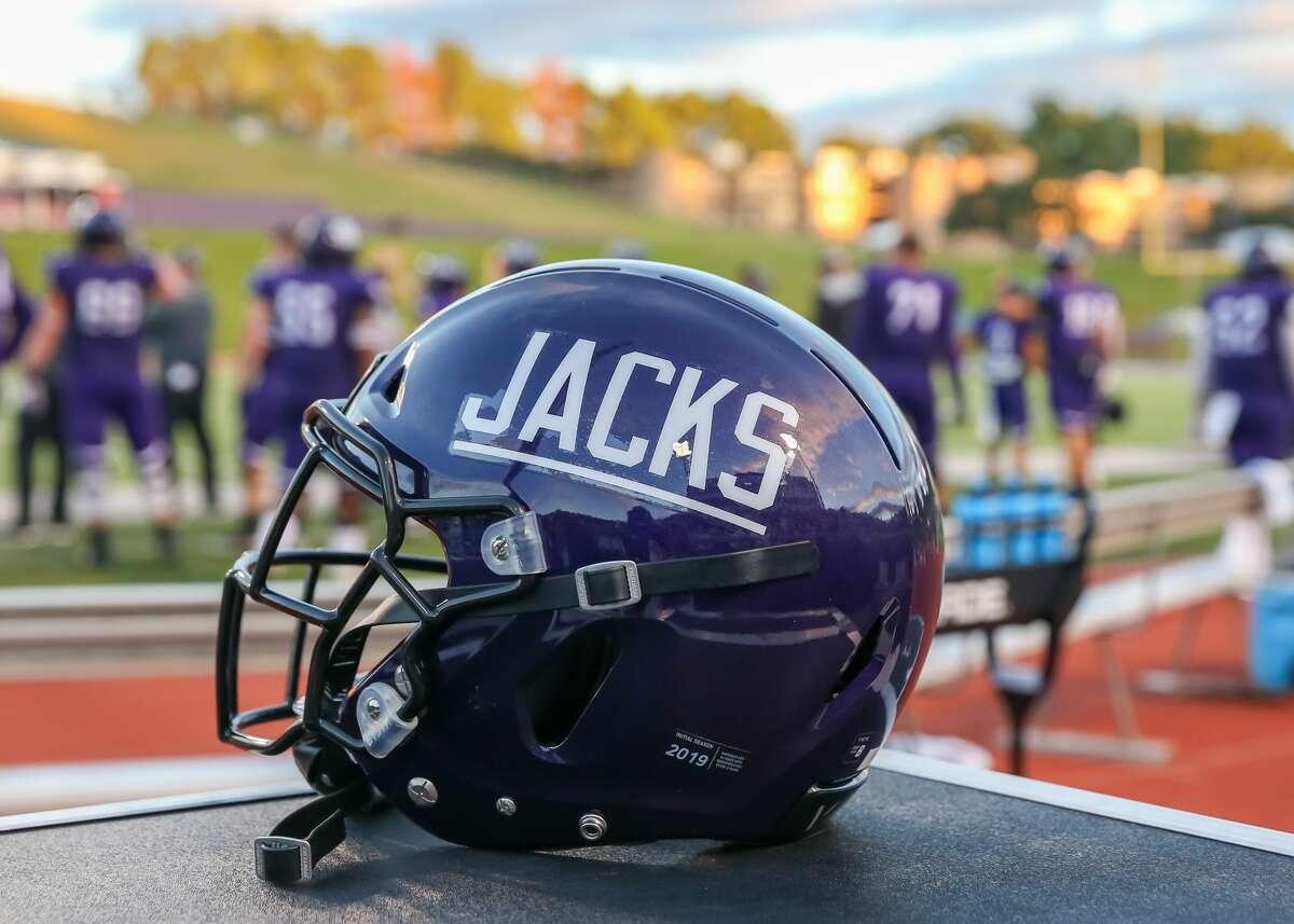 NACOGDOCHES, TX - OCTOBER 26: SFA helmet rests on the sidelines during the college football game between the McNeese State Cowboys and Stephen F Austin Lumberjacks on October 26, 2019 at Homer Bryce Stadium in Nacogdoches, Texas. (Photo by Leslie Plaza Johnson/Icon Sportswire via Getty Images)