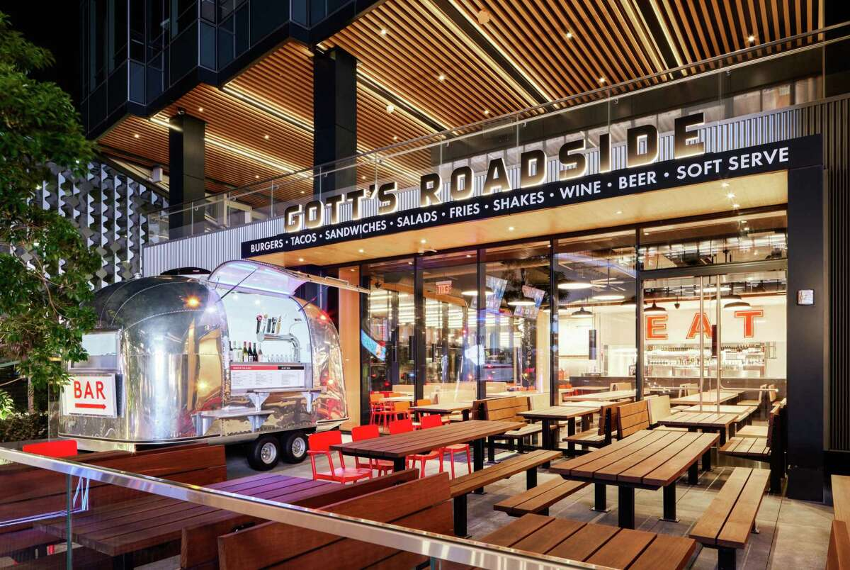 The new Gott's Roadside in San Francisco's Mission Bay features an outdoor Airstream bar.