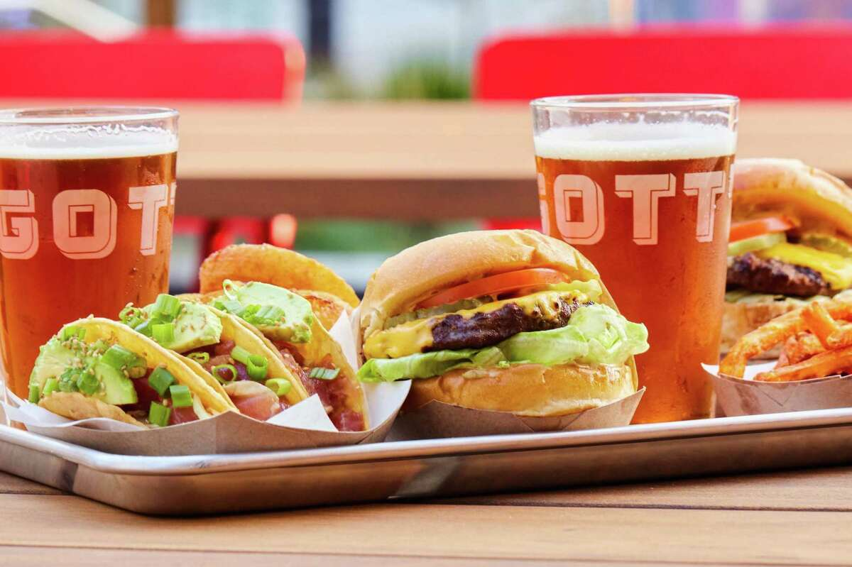 Burgers, tacos and beer from Gott's Roadside at the local chain's new Mission Bay location in San Francisco.