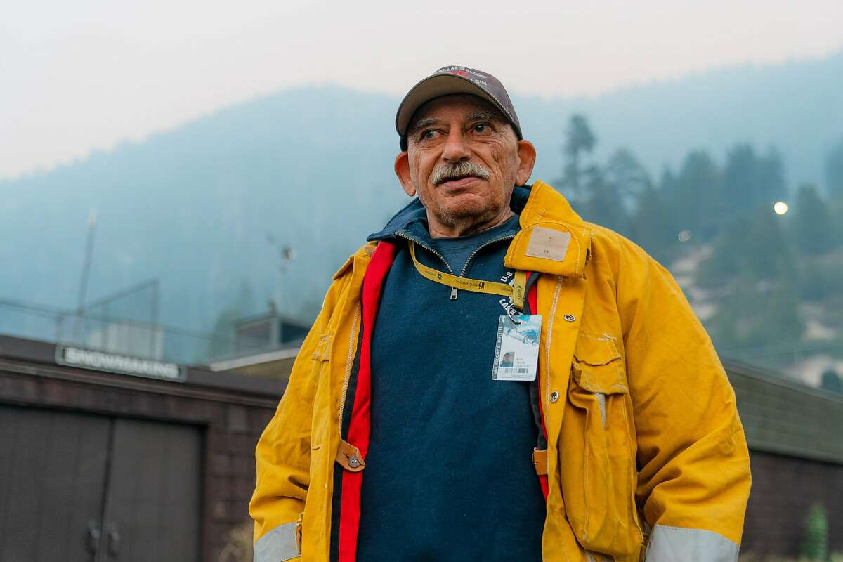 Raul Garcia, a current U.S. Forest Service contractor and former engine operator talks about his dual role with the U.S. Forest Service and Heavenly on the Caldor Fire at Heavenly Ski Resort in South Lake Tahoe, Calif., on Wednesday, September 1, 2021.