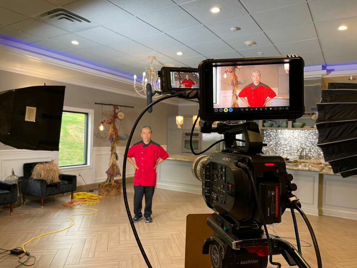 Jose Arteche, chef-owner of Shogun restaurant in Delmar, records a video segment in August for the 27th annual Chefs & Vintners' Harvest Dinner, a fundraiser for the Regional Food Bank of Northeastern New York. It is being held virtually again for 2021 because of the pandemic. Participants pick up five-course meals to eat at home and may view segments by the chefs who prepared them and other video content. The dinner this year is Sept. 23.