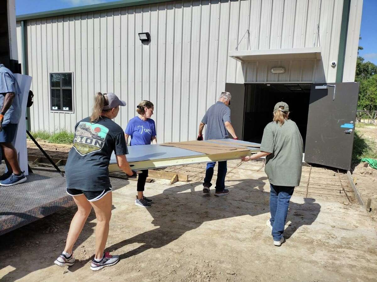 The new Cypress Assistance Ministries will house all services, including the new food pantry with walk-in storage and a new reception area.