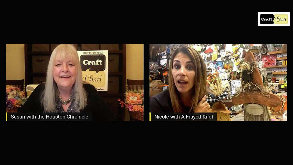 HOUSTON CHRONICLE CRAFT CHAT! Meet Nicole Dias from A-Frayed-Knot when Chronicle creative director Susan Barber interviews the creator who specializes in chalk paint, unfinished wood craft kits and wood packs. Dias has her own line of paint and kits and she hosts private groups.