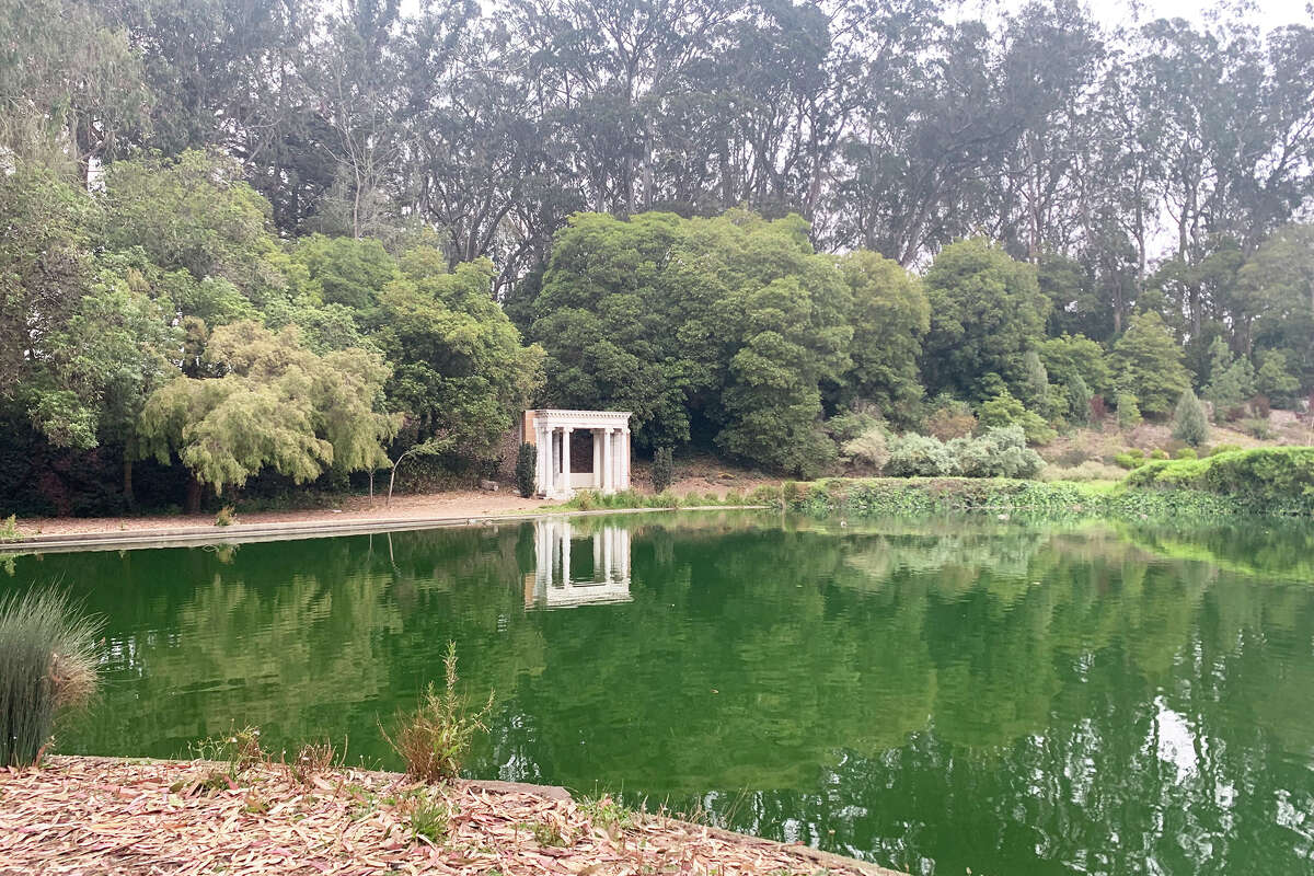 The portals reflect on Lloyd Lake.