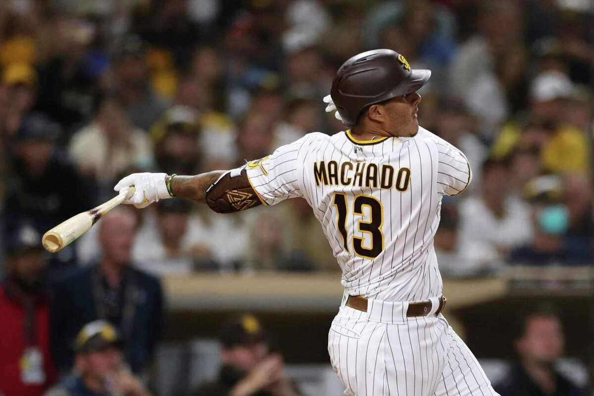 Padres third baseman Manny Machado is hitting .343 with runners in scoring position this season.