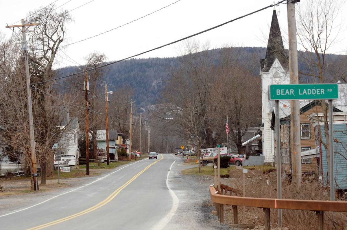 Route 30 in North Blenheim, NY Wednesday, Jan.4, 2012. ( Michael P. Farrell/Times Union)