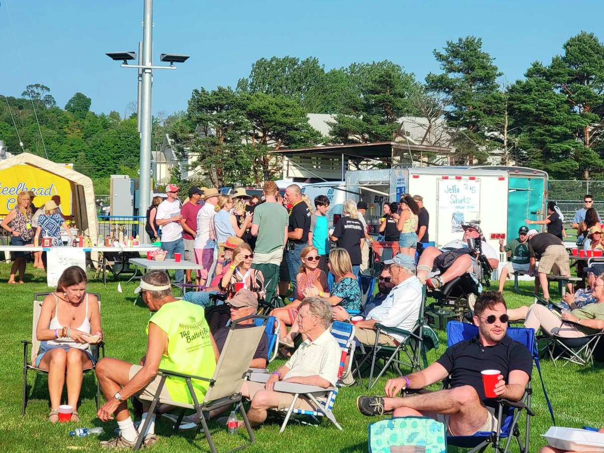 TheBenzie County Fraternal Order of EaglesAerie 3313donated a collective $2,000 to Benzie County's schools from proceeds from a beer tent at the Frankfort Music Festival. (File Photo)