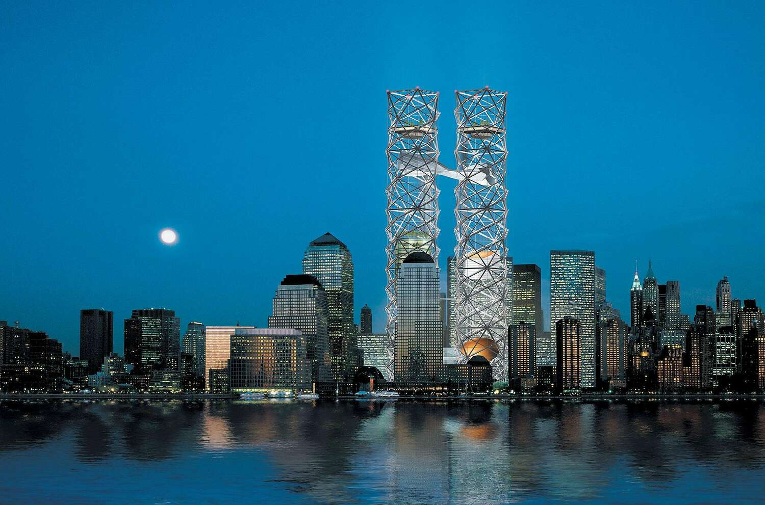 One of the proposed designs for the World Trade Center by Think