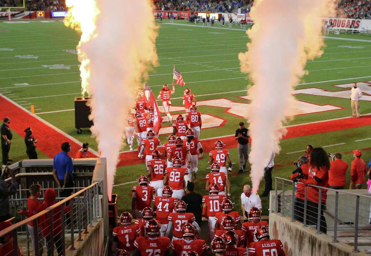 UH and BYU played at NRG last season and both schools could be headed to Big 12 in latest round of conference realignment.