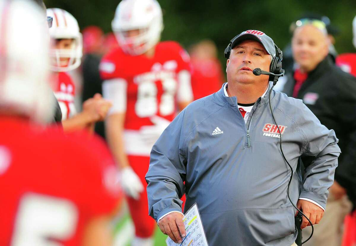 Sacred Heart University coach Mark Nofri and the Pioneers begin defense of their NEC title on Saturday against Bucknell.