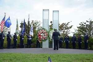 The 9/11 Memorial in Cos Cob Park.