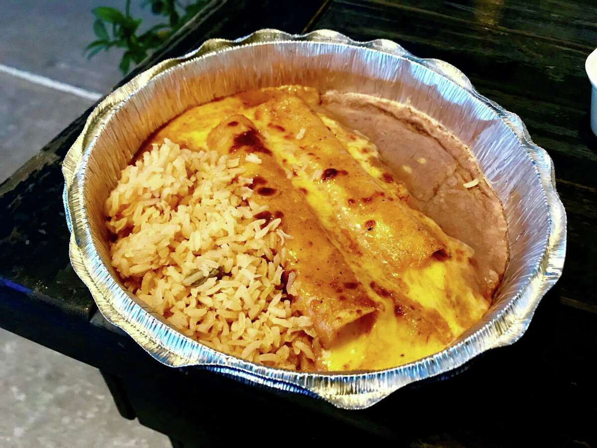 Cheese enchiladas from Ray's Mexican Restaurant in Katy
