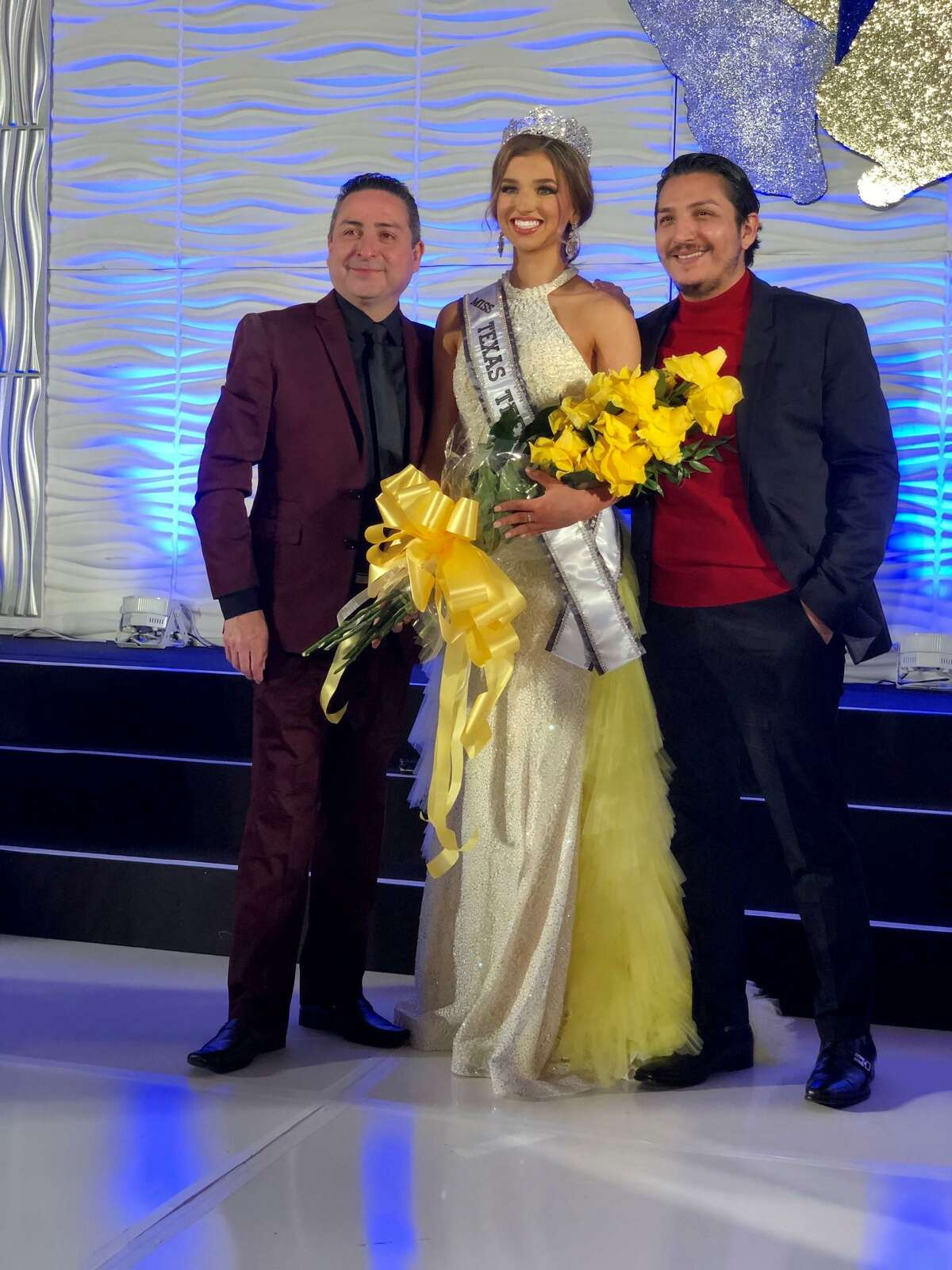 Roel and Saul Gonzalez with current Miss Texas Teen USA Anissa Mendez. She will be turning in her crown this weekend.