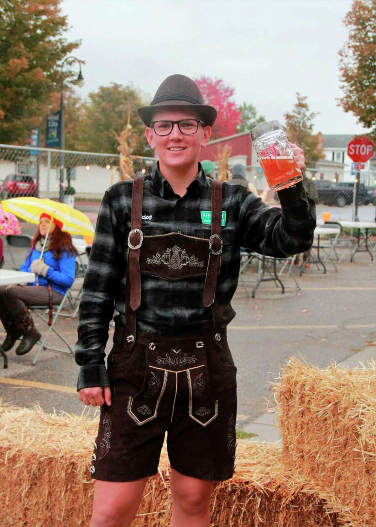 An attendeesof last year'sOctoberfest dresses up in German attire. The celebration returns this year on Sept. 25, and prizes will be awarded for best dressed patrons.(Pioneer file photo)