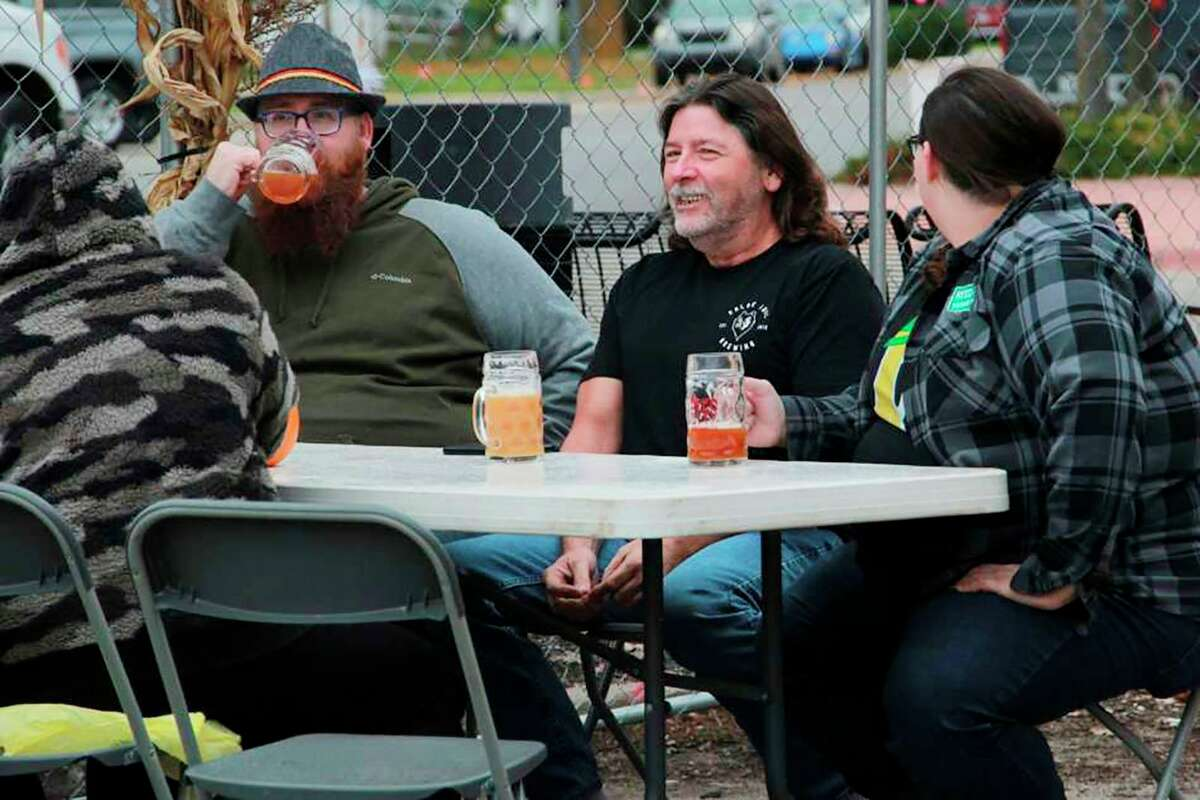 Attendeesbraved the coldatReed City Brewing Company'sinaugural Octoberfest last year. The celebration returns this year on Sept. 25. (Pioneer file photo)