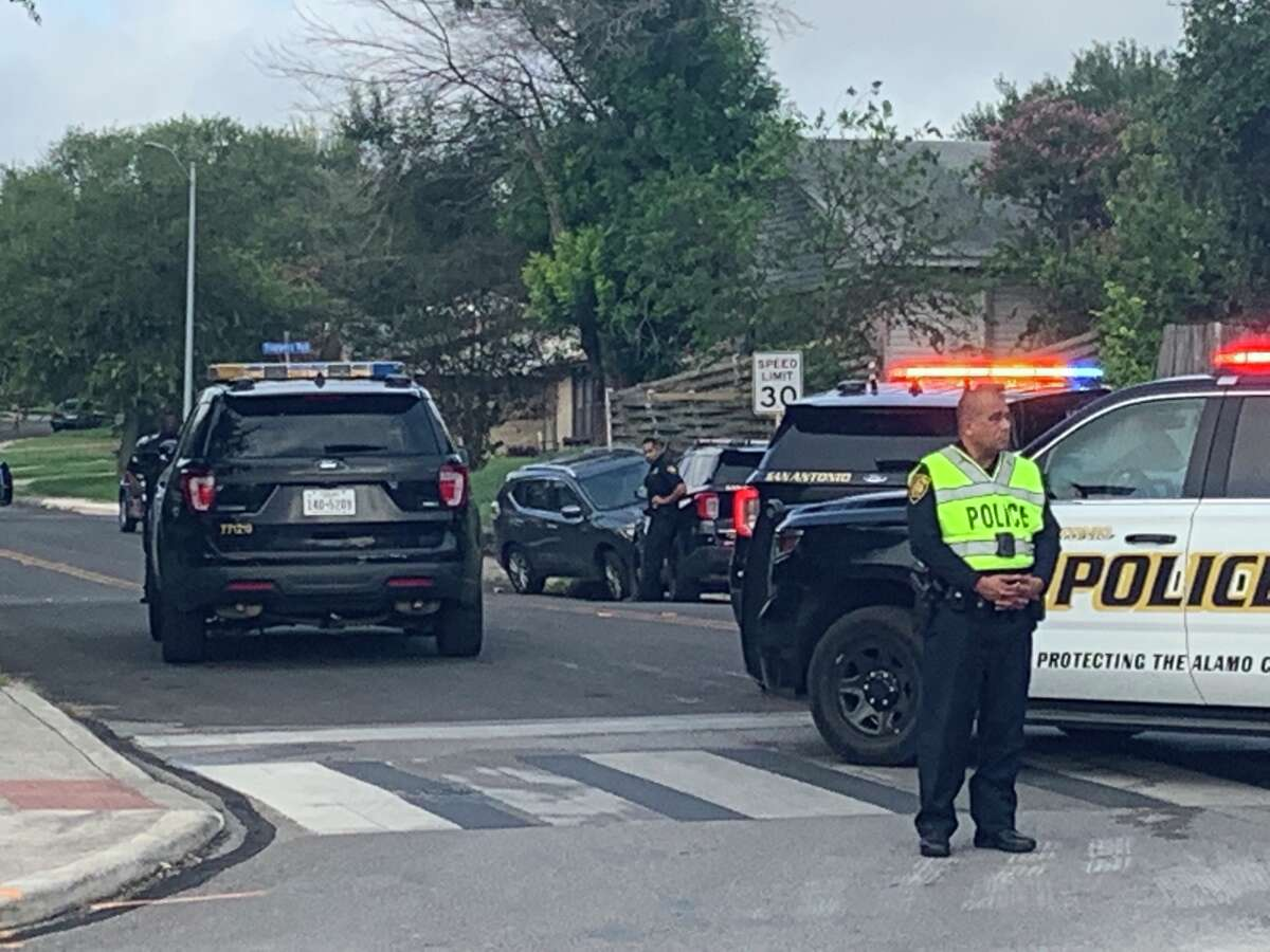 Two teenage girls were hospitalized in critical but stable condition after they were hit by a Nissan sedan while walking to school Friday morning, San Antonio police said.
