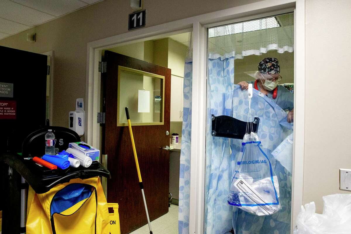 After a COVID-19 patient leaves, Winters must sanitize every inch of the hospital room.