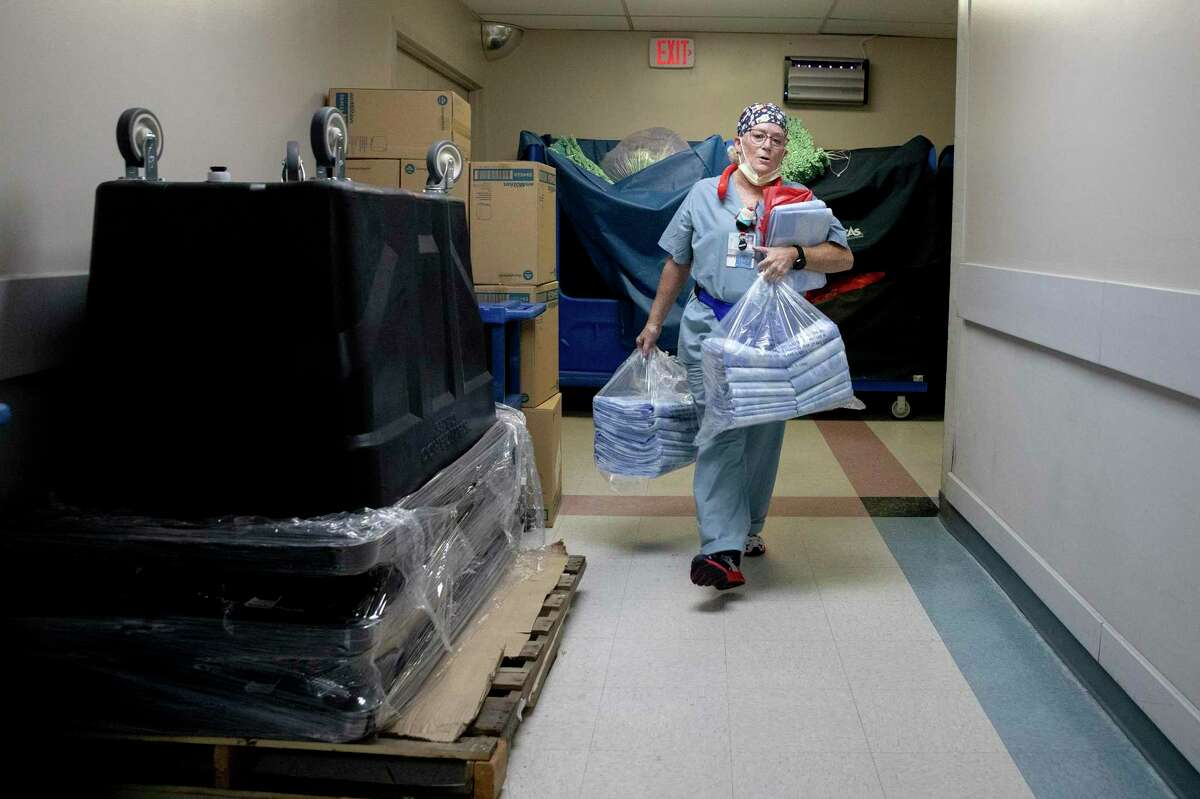 Working in the ER means Winters must clean the lobbies; doctors' lounge; nurses' station; medical supply room; bathrooms; and more than two-dozen patient rooms.