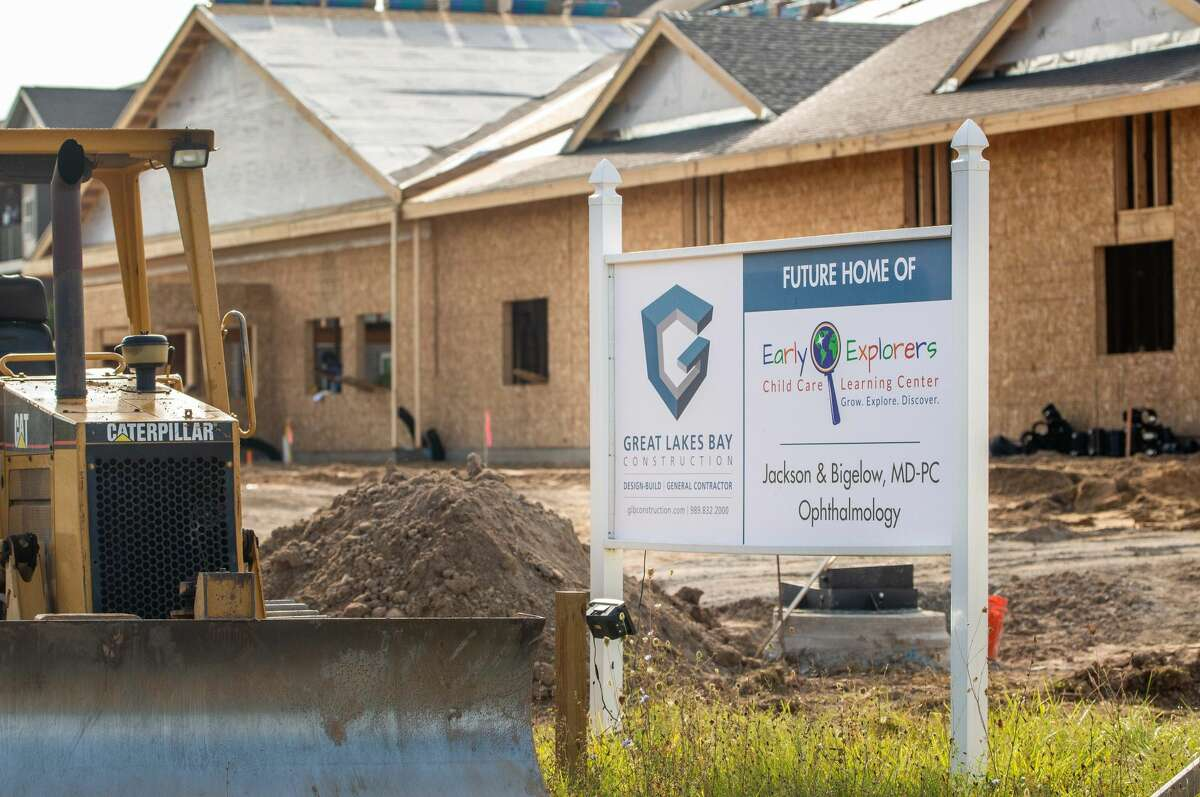 A sign signaling the arrival of a new daycare location of Early Explorers Child Care and Learning Center sits on Sept. 3, 2021 on Joseph Drive near the Wildfire Credit Union. The location is expected to be open by December. (Andrew Mullin/AMullin@hearstnp.com).