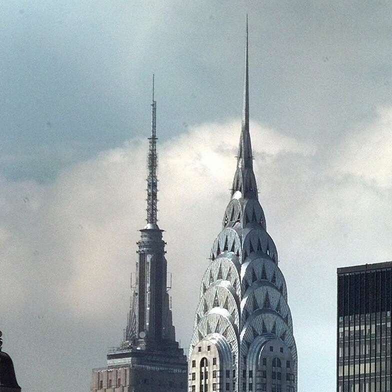 The Chrysler and Empire State buildings in 1997.