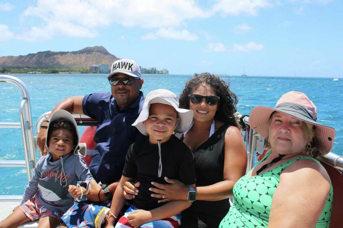 Katy residents Kat Cosley and husband, Frank Trigg, with their sons, Lathen, 5, and Frankie, 8, and her mother, Margaret Cosley, went to Hawaii in July 2021 to celebrate the couple's 20th weddiing anniversary but the trip turned into a nightmare.