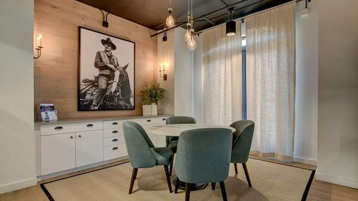 The one-bedroom apartment is 782 square feet.