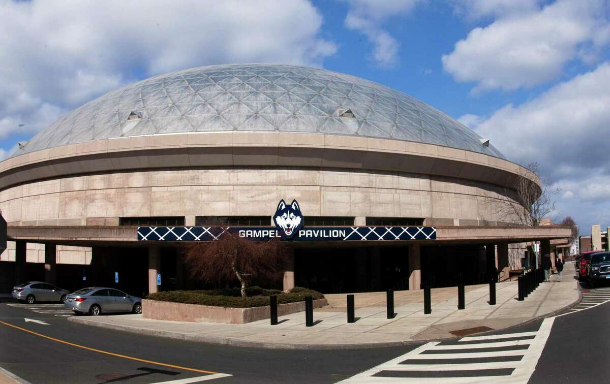 A view of Gampel Pavilion on UConn campus in Storrs, Conn., on Thursday Mar. 4, 2021.