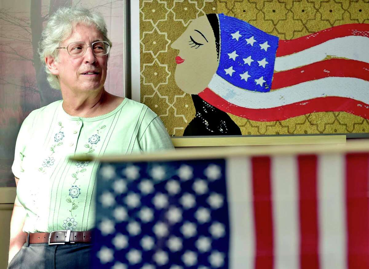 Linda Bronstein, senior case manager for Integrated Refugee & Immigrant Services in New Haven, is IRIS' longest-serving employee and dealt with refugees' issues after 9/11.
