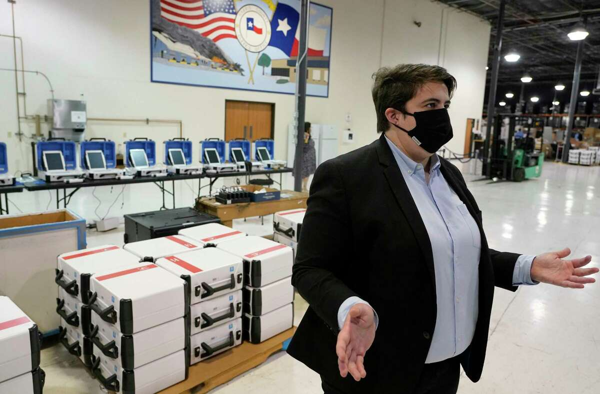 Harris County Elections Administrator Isabel Longoria and civil rights groups filed a lawsuit over Texas' new voting law.