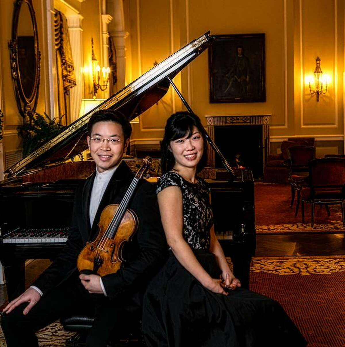 Violinist Helen Huang and pianist Paul Huang. (credit: John Kringas)
