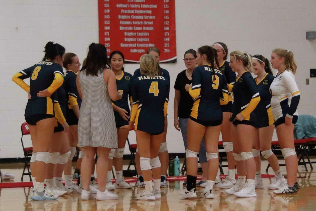 Despite facing higher standards and tougher practices than they had in the past, Manistee's players have embraced Brooke Richards as their new varsity volleyball coach. (News Advocate file photo)