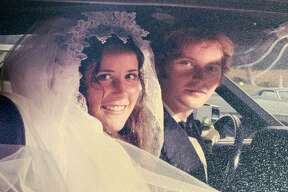 Connie and Mark Martin on their wedding day