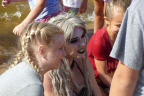 A mermaid was spotted by local kids at a Manistee beach this week