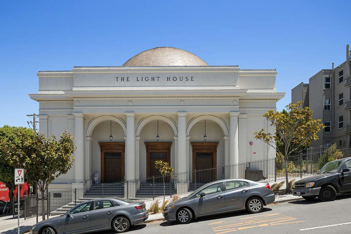 The golden-domed edifice of this four-unit building is right across from Dolores Park.