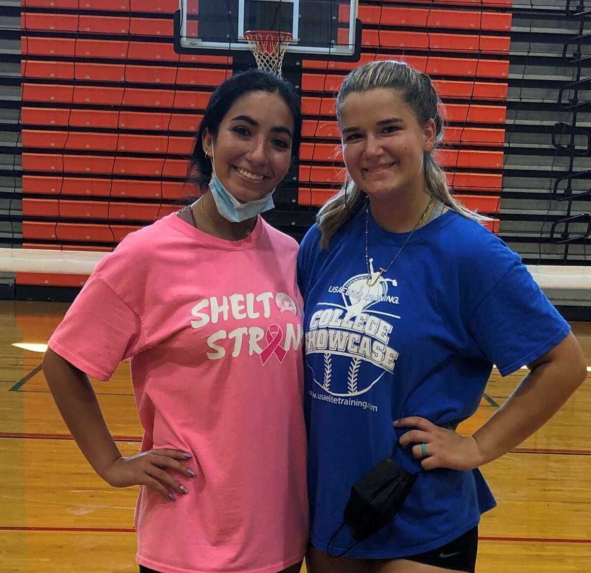 Giovanna Gonzalez and Julia Krijgsman are Shelton girls' volleyball captains.