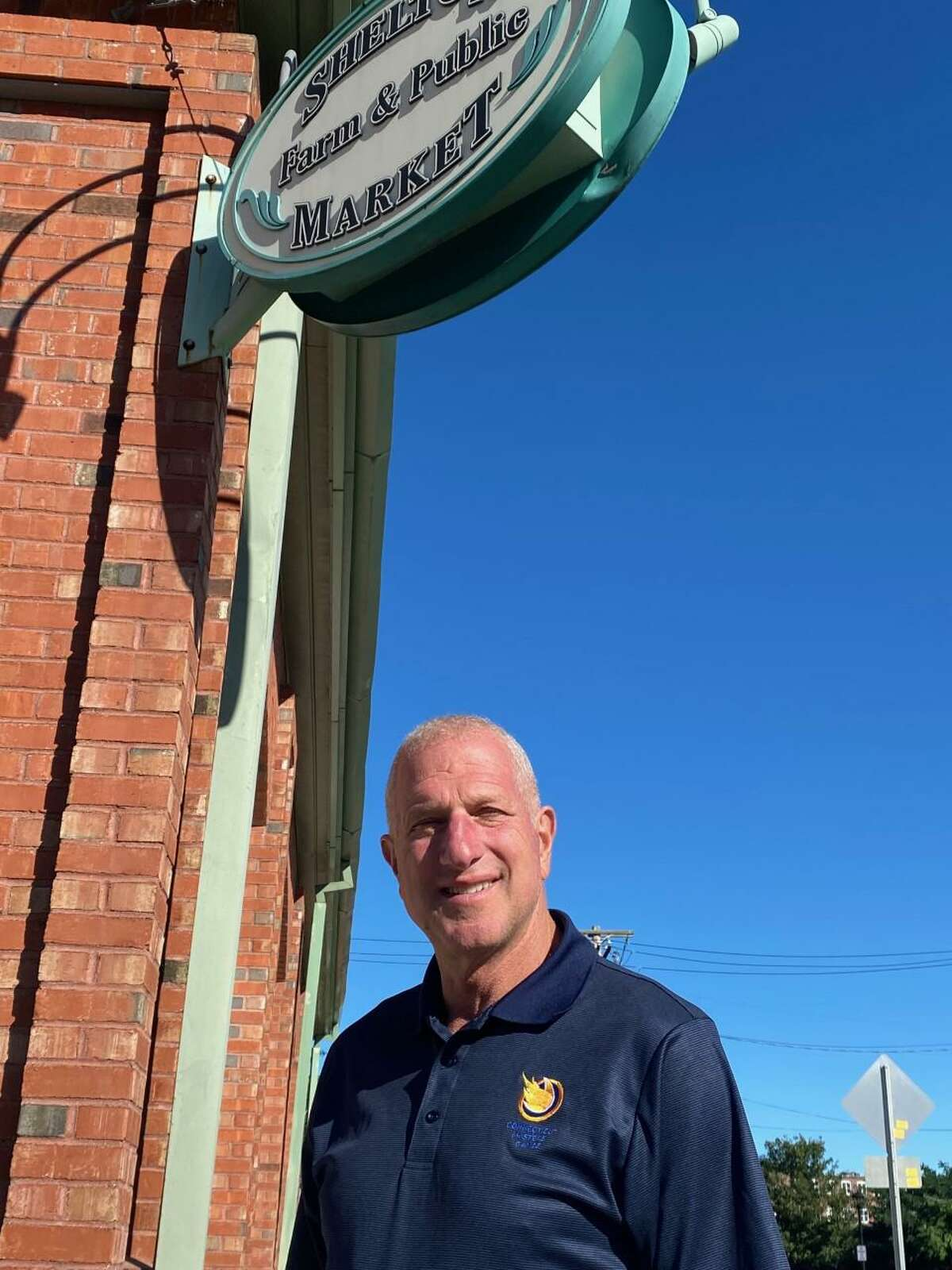 Mayor Mark Lauretti at the city's farmers market building.