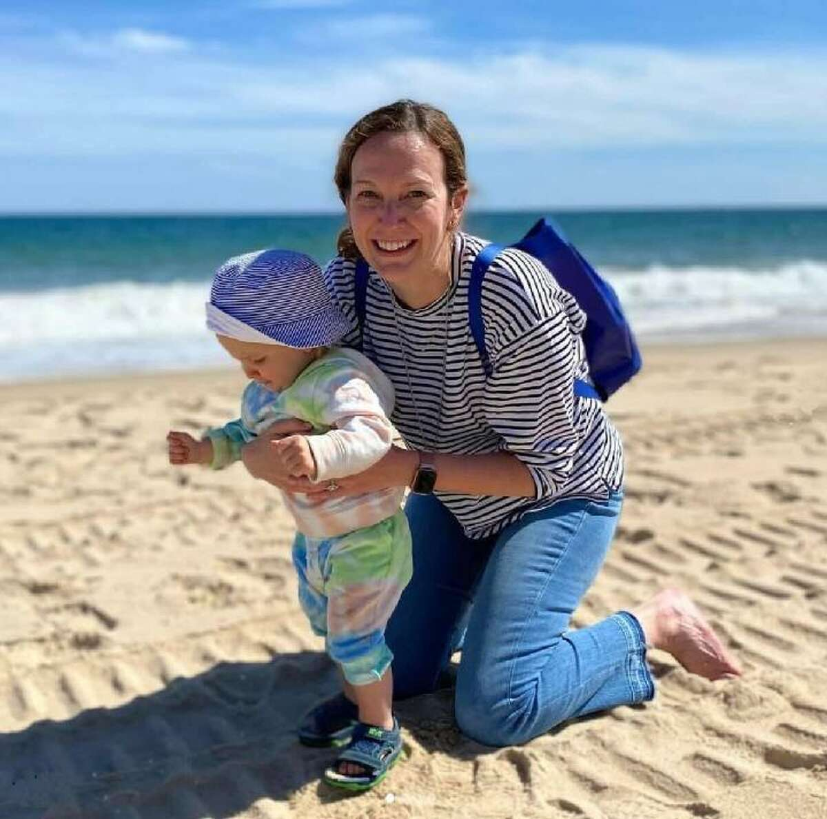 Dr. Courtney Haviland, 33, and her 1-year-old son, Teddy.