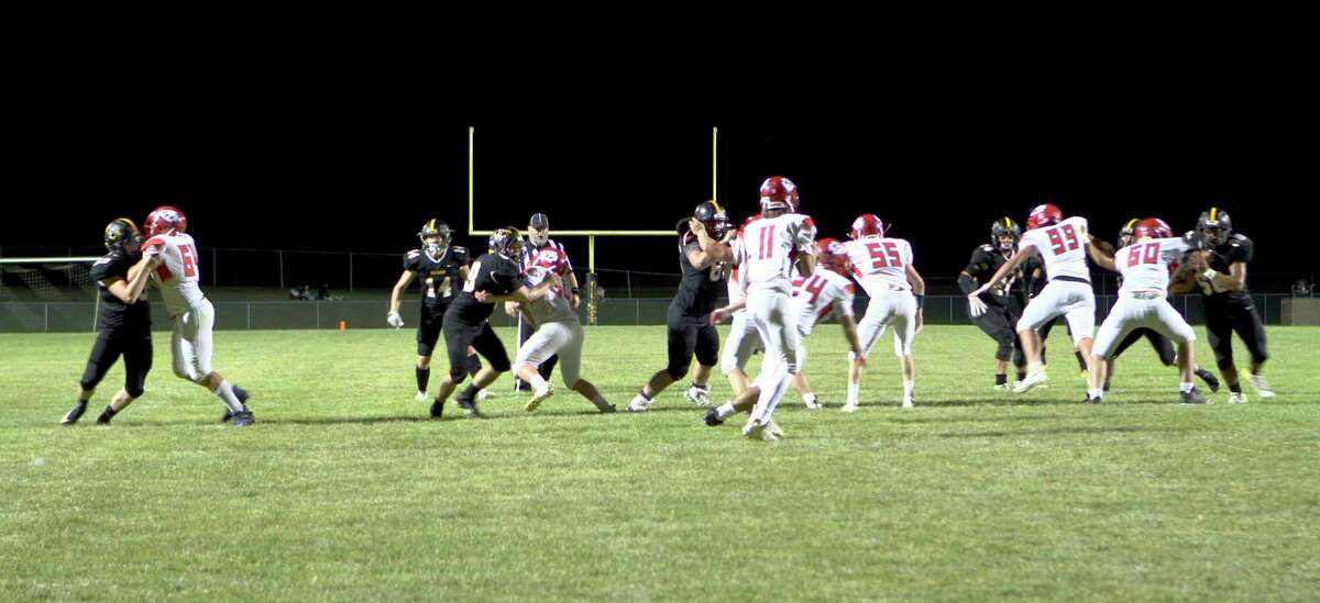 The Chippewa Hills football team was unable to build upon a successful first quarter during its 46-7 loss to Tri County Friday night in Howard City. (Pioneer photo/Joe Judd)