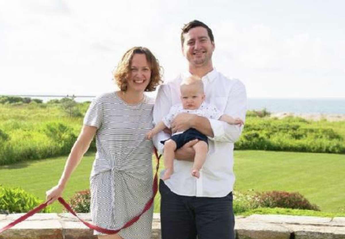 Dr. Courtney Haviland, 33, Dr. William Shrauner, 32, with their 1-year-old son, Teddy.
