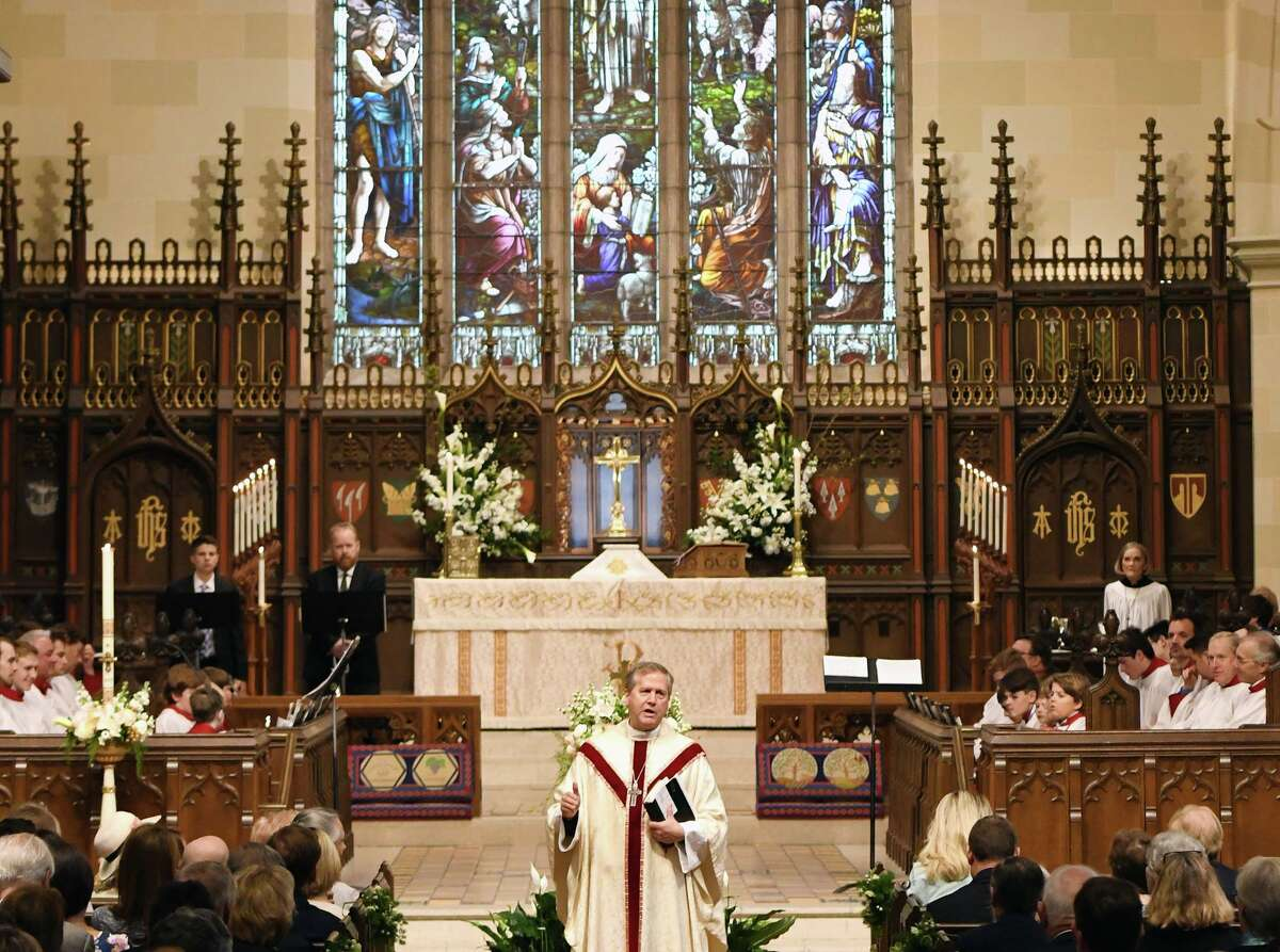 Christ Church, shown during an Easter service in 2019, will host a special service on Sept. 11 to mark the 20th anniversary of the terror attacks on the World Trade Center.