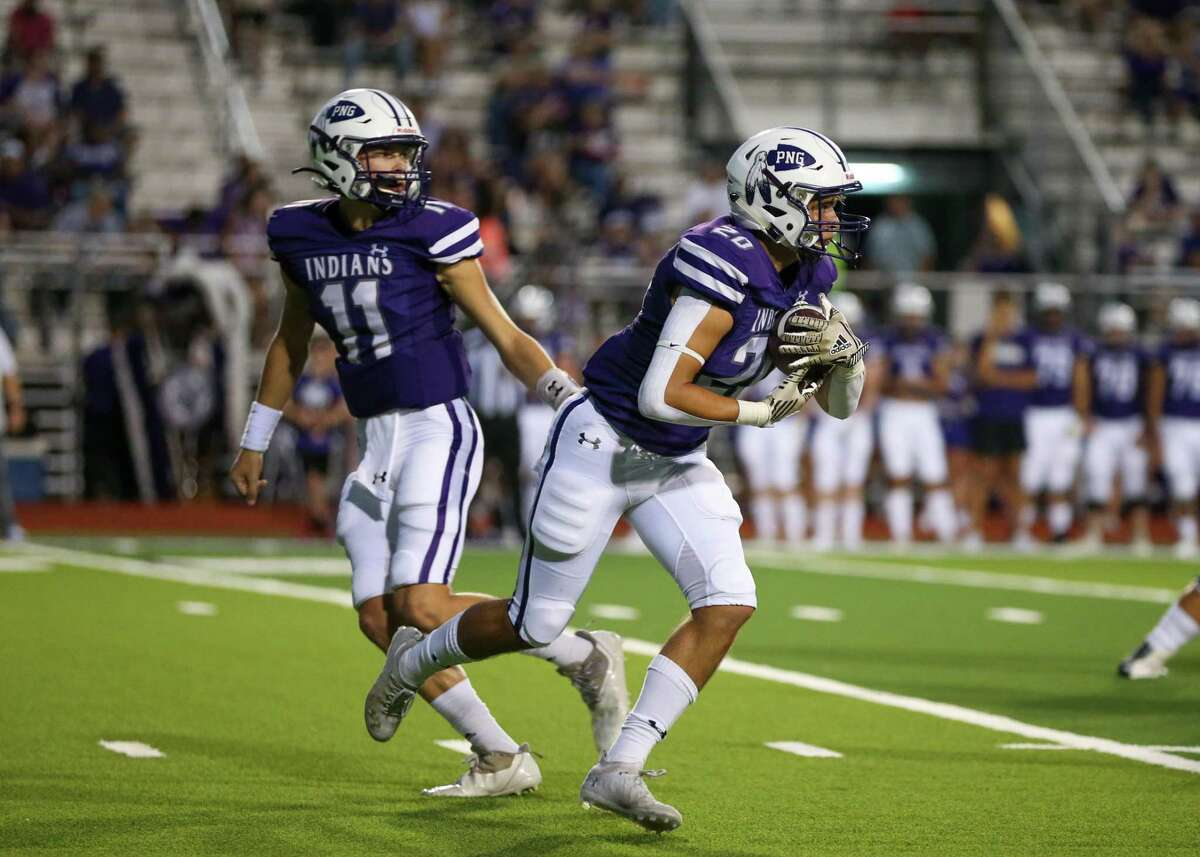Port Neches-Groves and Beaumont United played a tight game at Indian Stadium Friday night. Photo taken Sept. 3, 2021.