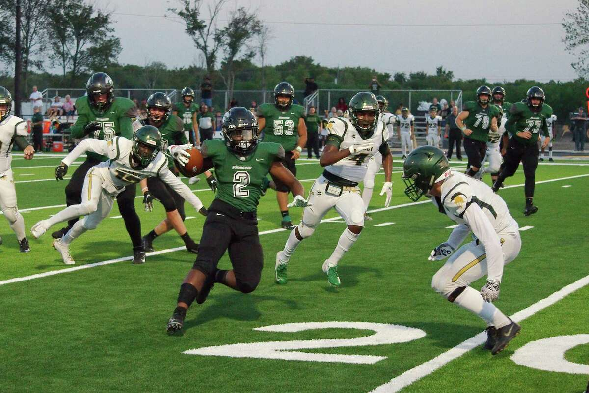 Lutheran South Academy's Syr Bailey (2), shown in a file photo, scored the go-ahead touchdown in overtime for the Pioneers Friday night.