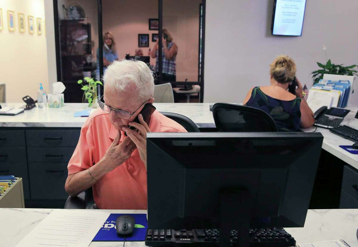 Volunteer Doug Martin (center) is part of the San Antonio Oasis Silver Connect chatline that connects older adults who are lonely during pandemic. The service is open to adults 50 years and above. The program began at the end of July, but the big kickoff is Sept. 7. Hours for the program are Monday through Friday, 5 p.m. to 9 p.m., and Saturday and Sunday, 9 a.m. to 9 p.m. In addition to offering emotional support, the Silver Connect Line also helps with grief support through assistance, reassurance, information and referrals.