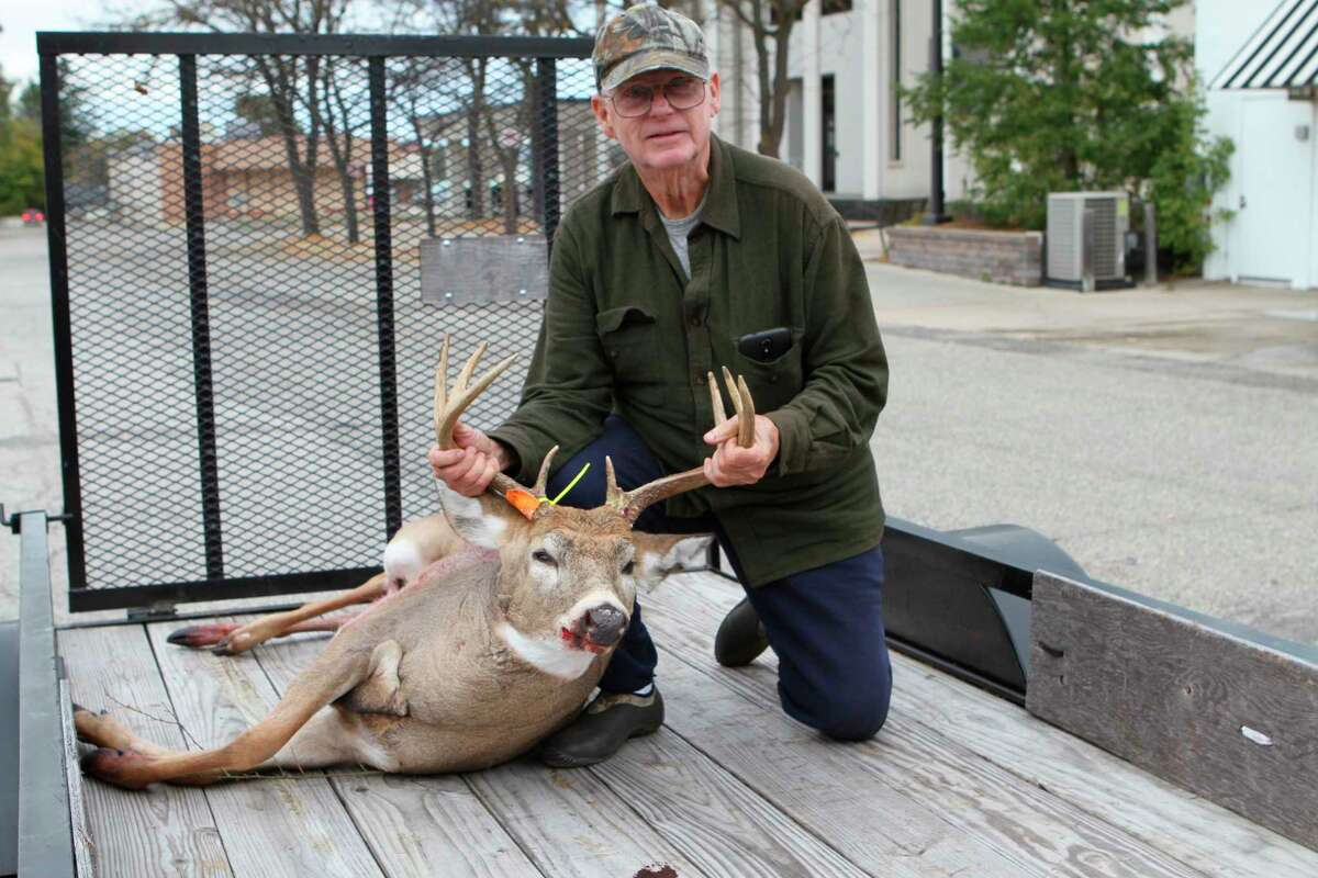 Big Rapids' Don Morris is pictured here with his 8-point buck from 2018. He's a avid archery hunter.