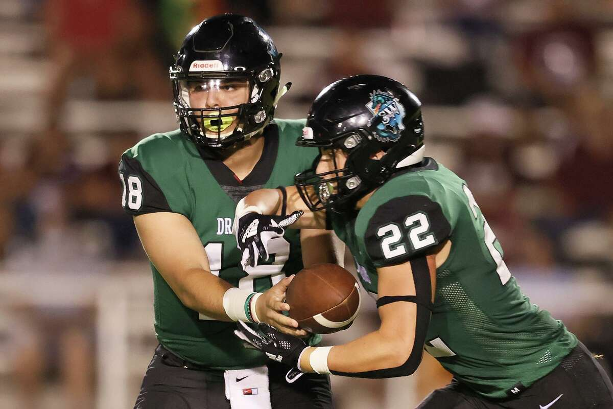 Seniors Nathan Gamez, left, at quarterback and Jake Friesenhahn at running back have been the main cogs in Southwest's potent offensive attack.